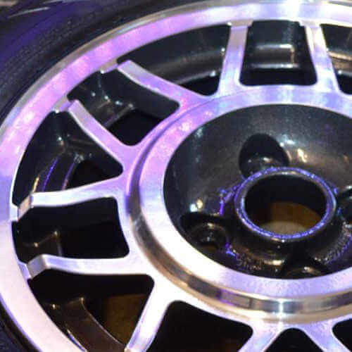 The alloy wheel after diamond cutting