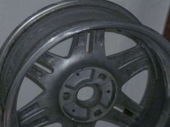 Alloy wheel after repair